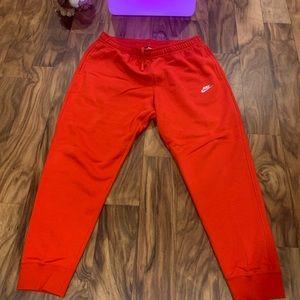 Red Nike Fleece Joggers